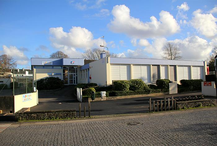 Vue bâtiment école Joliot Curie