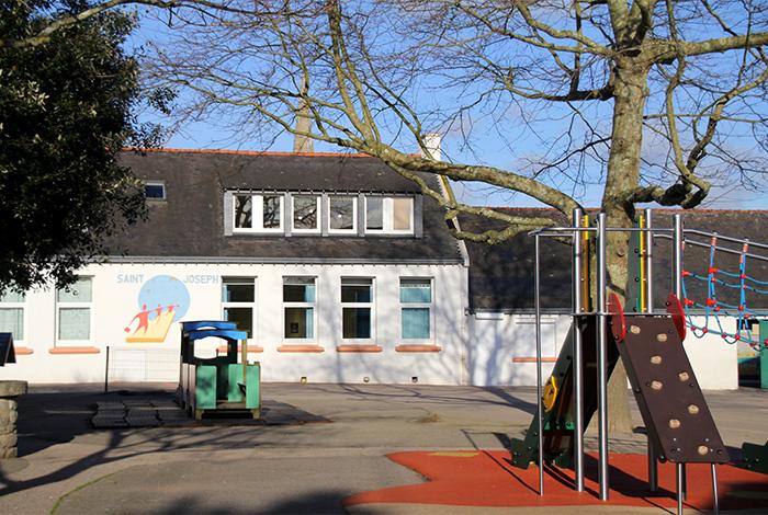 Vue cour école Saint-Jospeh