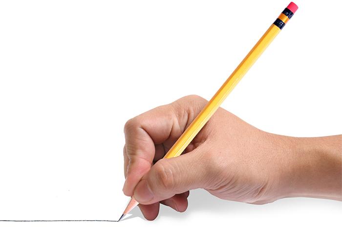 Emploi - main tenant crayon