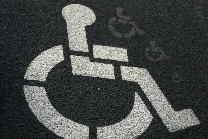 Logo place réservée aux personnes handicapées