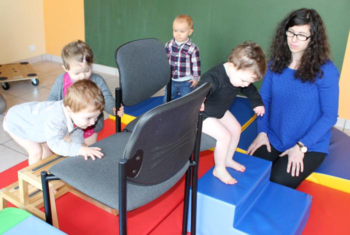 Atelier motricité avec les assistantes maternelles au RIPAME de Quéven (mars 2016)