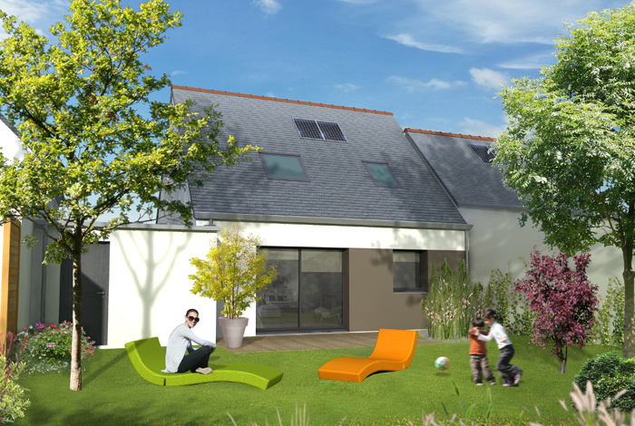 Croquis projet maison Ty Lohé (LB Habitat)