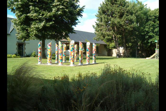 photo du jardin de la médiathèque