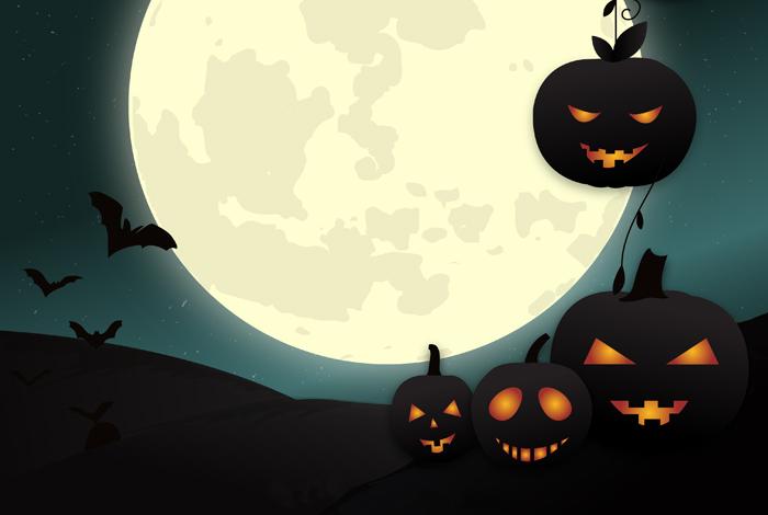 Les épouvantails fêtent Halloween