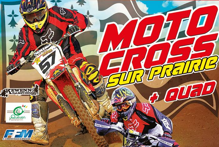 Moto cross sur prairie + Quad