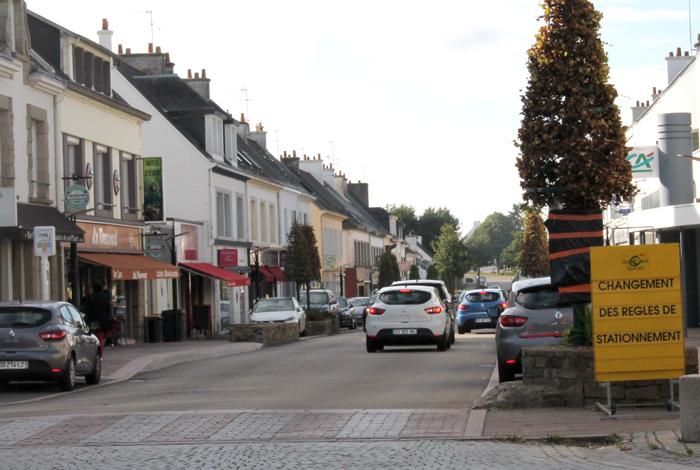 Une zone bleue dans la rue JeanJaurès