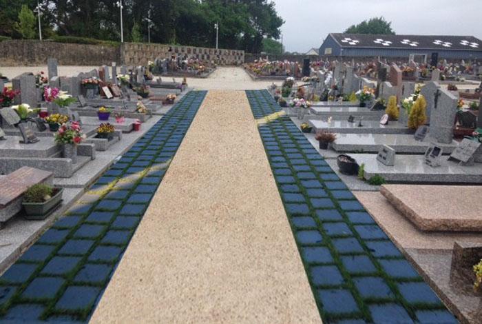 Travaux dans le cimetière