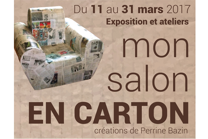 Exposition «Mon salon en carton», créations de Perrine Bazin