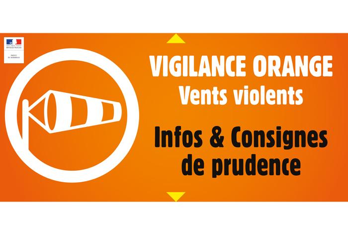 Alerte orange vents violents