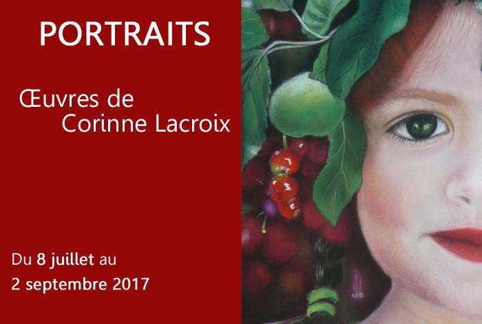 Exposition «Portraits», œuvres de Corinne Lacroix