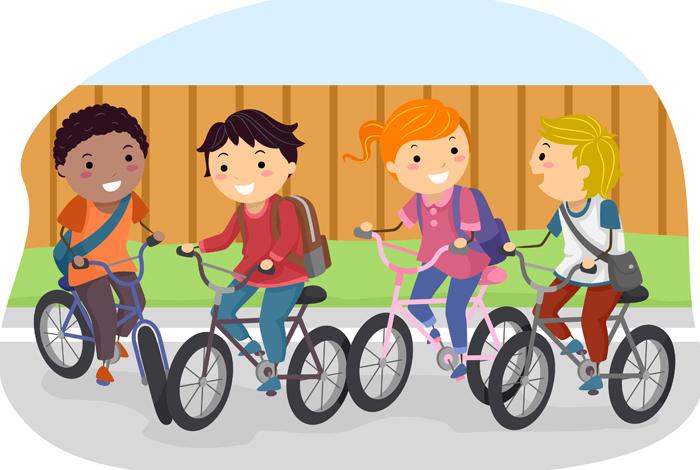 Visuel Semaine à vélo à Quéven - Dessin d'enfants à vélo (@Fotolia)