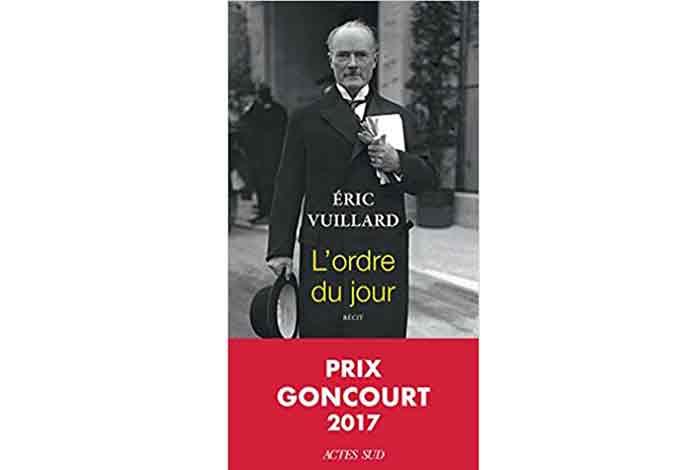 L'ordre du  jour, un roman d'Eric Vuillard