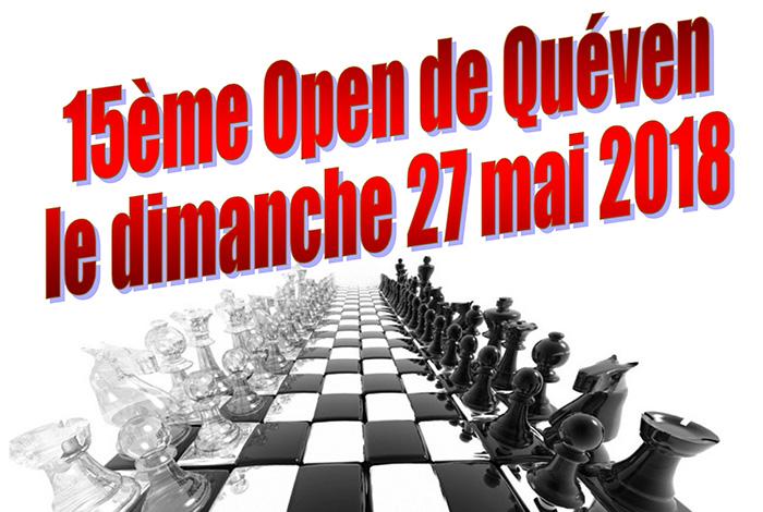 Tournoi d'échecs principal et Tournoi jeunes – 15ème open de Quéven