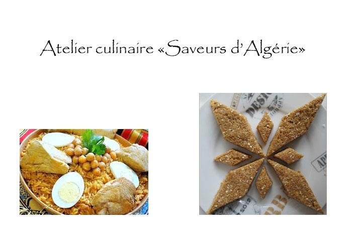Atelier culinaire «Saveurs d'Algérie»