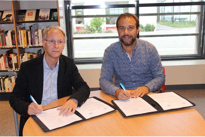 Signature de la convention de partenariat entre la Ville de Quéven et l'Université de Bretagne Sud
