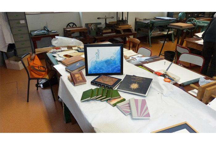 Visite commentée de l'exposition «Découvrir les arts du livre» et fabrication d'un carnet