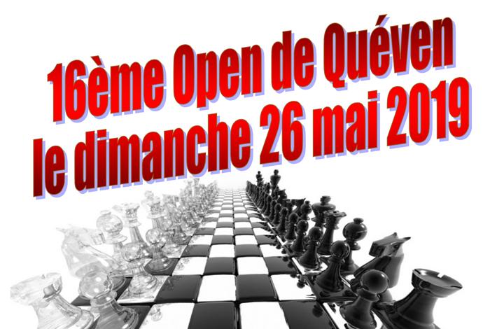 Tournoi d'échecs principal et Tournoi jeunes – 16ème open de Quéven
