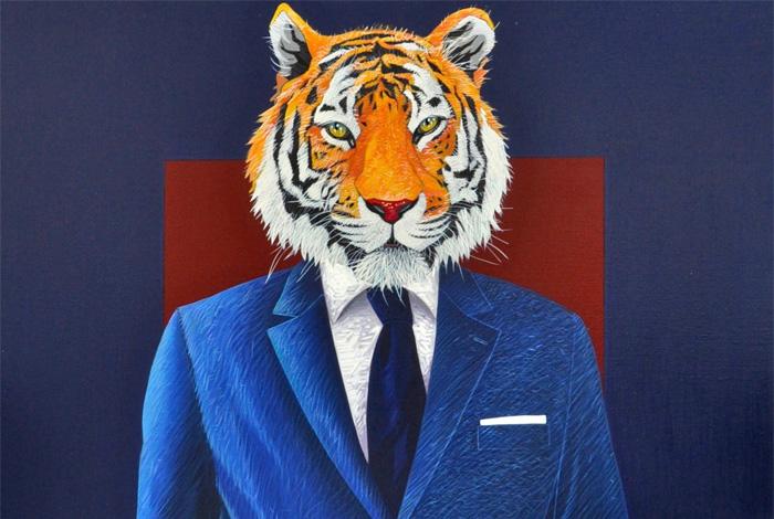 Exposition «Tigres et super-héros» par Yann Mickaël Talvas