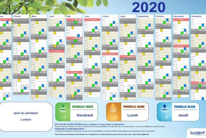 Collecte des déchets : le calendrier 2020 disponible en ligne