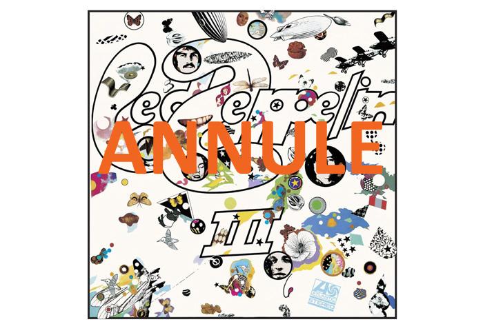 Le temps d'un disque : Led Zeppelin III – ANNULE