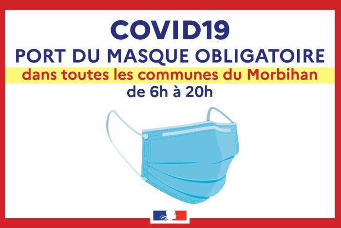 Port du masque obligatoire dans toutes les communes du Morbihan de 6h à 20h
