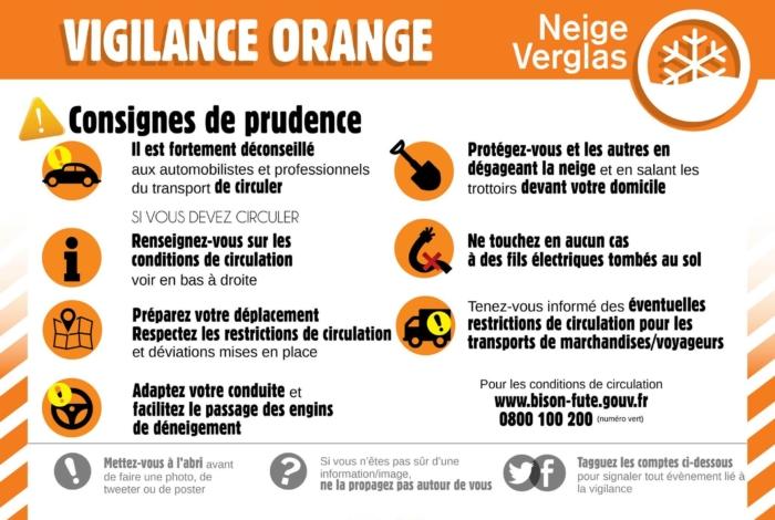 Vigilance orange neige-verglas dans le Morbihan et mesures prises à Quéven
