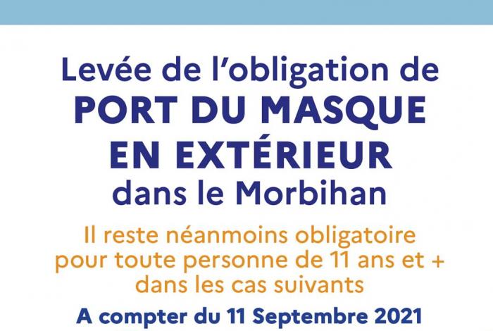 Port obligatoire du masque : Evolution des mesures au 11 septembre 2021