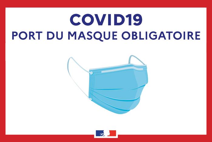 Port obligatoire du masque : prolongation des mesures jusqu'au 26 octobre 2021