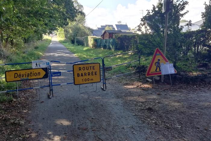Travaux sur la voie verte Quéven/Pont-Scorff